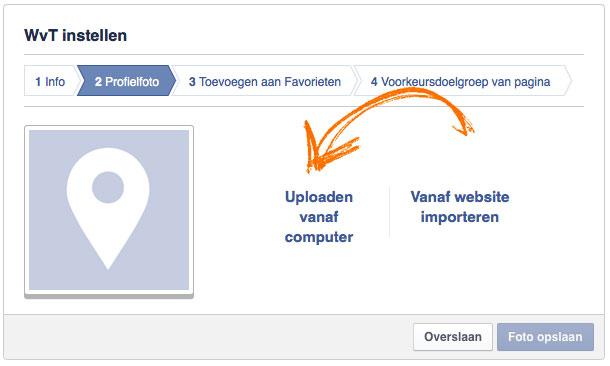 Facebook-bedrijfspagina-profielfoto-uploaden