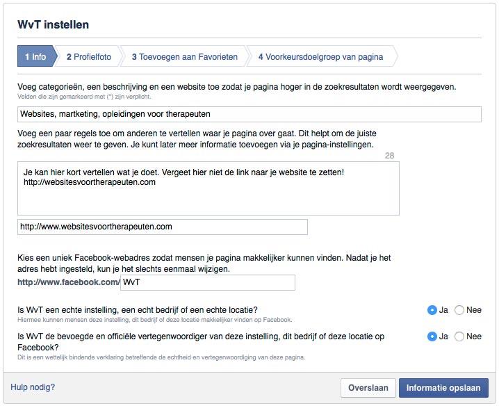 facebook-bedrijfspagina-info