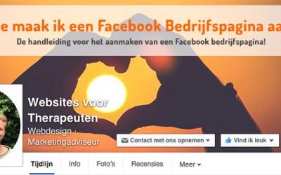 Hoe maak ik een Facebook bedrijfspagina aan?