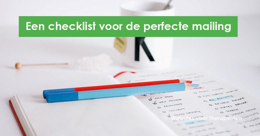 Nieuwsbrief checklist
