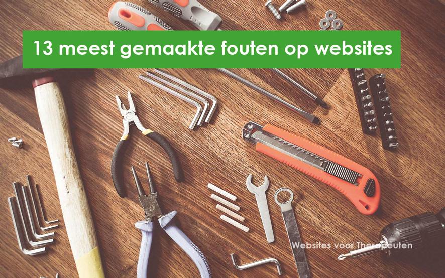 13 meest gemaakte website fouten